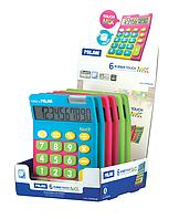 Калькулятор, 10 разр., MIX, дисплей, ассорти цветов