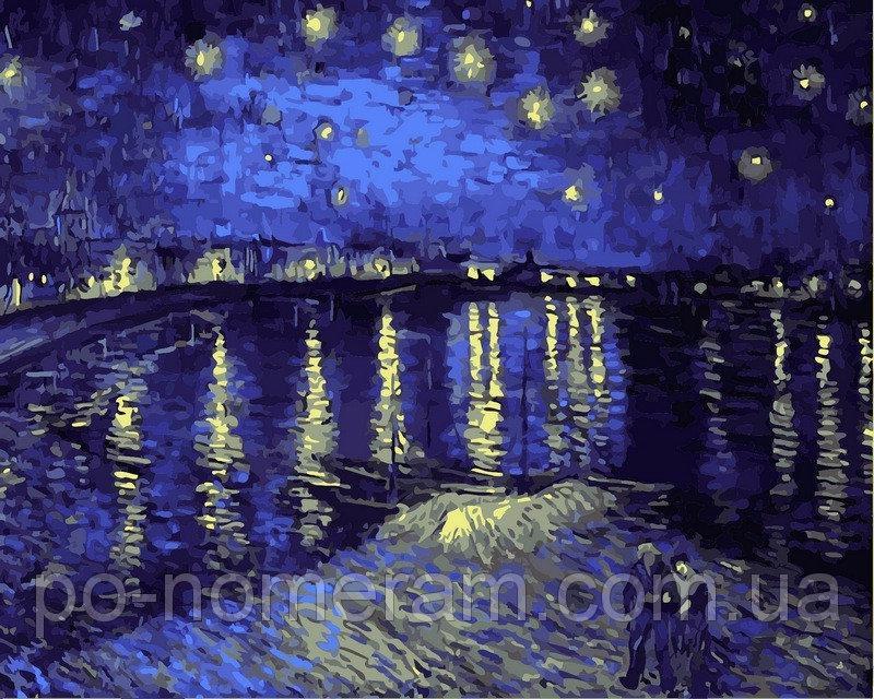 Картина по номерам VP503 Звездная ночь над Роной 40х50
