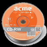 Диск CD-RW, 700Mb, 4-12х, Cake (10)