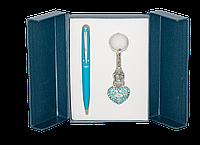 """Набор подарочный """"Corona"""": ручка шариковая + брелок, синий"""