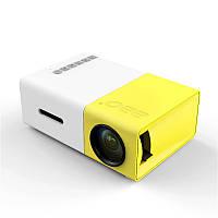 YG-300 LCD Мини переносный LED Проектор Поддержка 1080P 400-600 люмен 320 x 240 пикселей Домашний кинотеатр