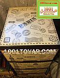 Комод пластиковый Алеана, с рисунком Paris (Париж), коричневый, фото 2
