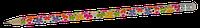 Карандаш графитовый HB с ластиком  FLOWERS, 5шт. в блистере