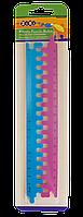 Линейка-пазл пластиковая (2 части по 20 см), синий с розовым