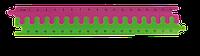 Линейка-пазл пластиковая (2 части по 20 см), розовый с салатовым
