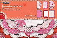 """Заготовка для открыток """"Love"""" 10.2*15.3см"""