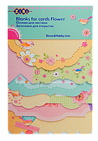 """Заготовка для открыток """"Flower"""" 10.2*15.3см"""