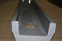 Задний бампер на прицеп серый