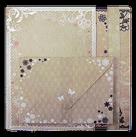 """Заготовка для открыток с цветными конвертами """"Vintage"""" 10.5*14.8см"""