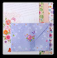 """Заготовка для открыток с цветными конвертами """"Charm"""" 10.5*14.8см"""