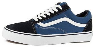 Мужские кеды Vans Old Skool Blue/Black (люкс копия)