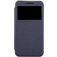 Кожаный чехол книжка Nillkin Sparkle для HTC Desire 616 черный, фото 1
