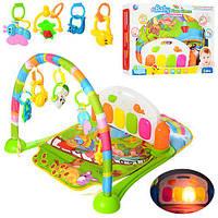 Коврик для младенца BM6016-1 (10шт) 75-52см,дуга,подвес5шт,пианино,муз,свет,бат,в кор,60-43,5-10см