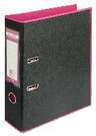 Регистратор BUROMAX, А4, 70 мм, PP, розовый/черный