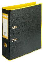 Регистратор BUROMAX, А4, 70 мм, PP, желтый/черный