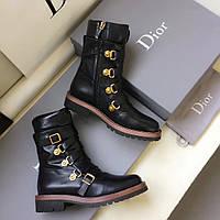 Кожаные ботинки на змейке Dior