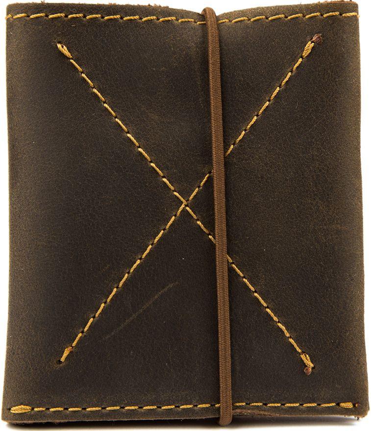 57910cf0479f Мужской кошелек-портмоне коричневый с контрастной строчкой Black Brier  П-7-33