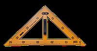 Угольник TEACHER 90°/45° для школьной доски 50 см, желтый