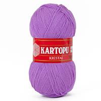 Турецкая  пряжа для вязания KARTOPU- kristal (кристалл)- 703 ярко-сиреневый