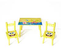 Стол + 2стула W02-5361 Sponge Bob кор.ш.к./5/