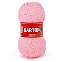 Турецкая  пряжа для вязания KARTOPU- kristal (кристалл)- 739 светло- розовый