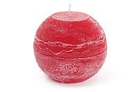 Свеча в форме шара 10см, цвет - бордо BonaDi B010_1-3.2