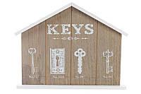 Ключница деревянная (4 крючка) BonaDi 443-547