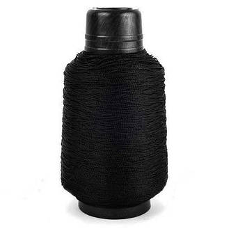 Нитка обувная капроновая 187 текс 300 грамм черная - нить крученая сапожная , фото 2