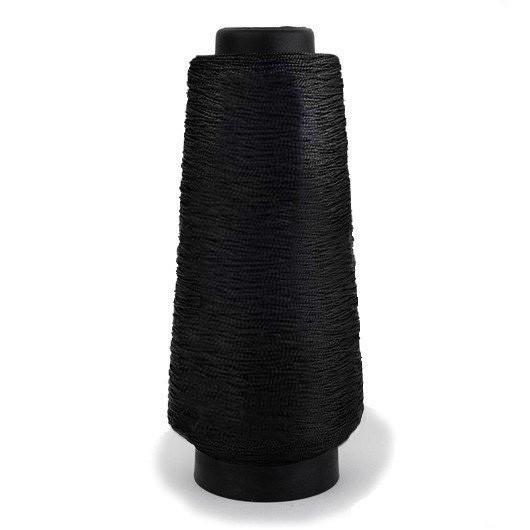 Нитка обувная капроновая 187 текс 450 грамм черная - нить крученая сапожная