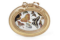 Рамка для фото овальная 16.5*14.5см Бант, цвет - состаренное золото BonaDi 450-111