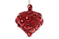 Елочное украшение в форме луковицы 8см, цвет - красный BonaDi 172-284