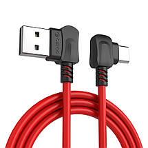 Кабель USB Type-C Orico TCW-10 с двусторонним USB разъемом для зарядки и передачи данных (Красный, 1м), фото 2