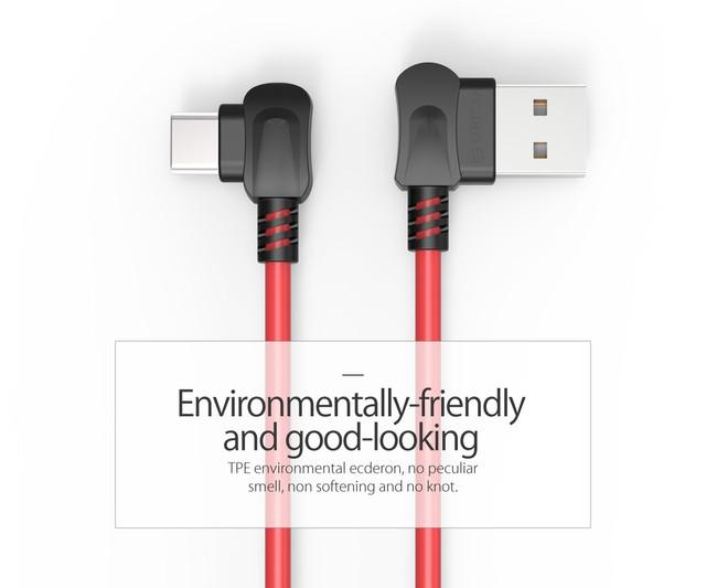 Кабель USB Type-C Orico TCW-10 с двусторонним USB разъемом для зарядки и передачи данных