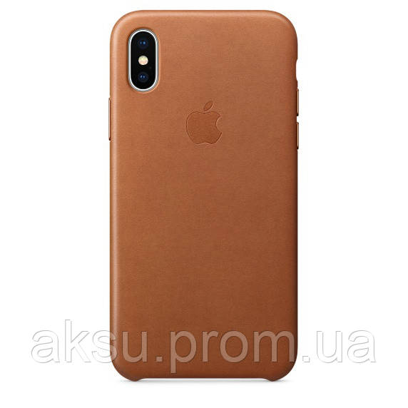 Чехол Leather case for iPhone X Gold