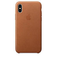 Чехол Leather case for iPhone X Gold, фото 1