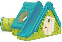 Детский игровой домик с горкой и тоннелем Keter Funtivity