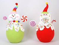 Мягкая игрушка Снеговик, Дед Мороз, 33см BonaDi SN33-11