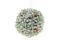 Новогодний декор Шар в снегу с красными ягодами BonaDi 758-324