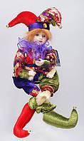 Новогодняя музыкальная игрушка Шут 41см BonaDi NY14-248
