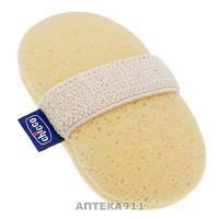 Губка для купания CHICCO (Чико) детская рукавичка для детей с 0 месяцев 1 шт