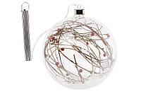 Елочный шар 18см с декором из веток и LED-гирляндой внутри BonaDi NY15-322