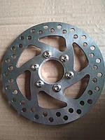 Тормозной диск на велосипед с резьбой 140 мм.
