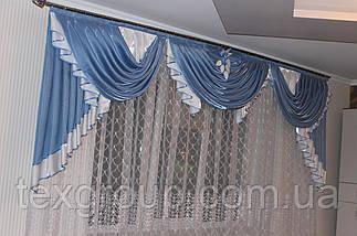Атласный ламбрекен Анабель в спальню, фото 2
