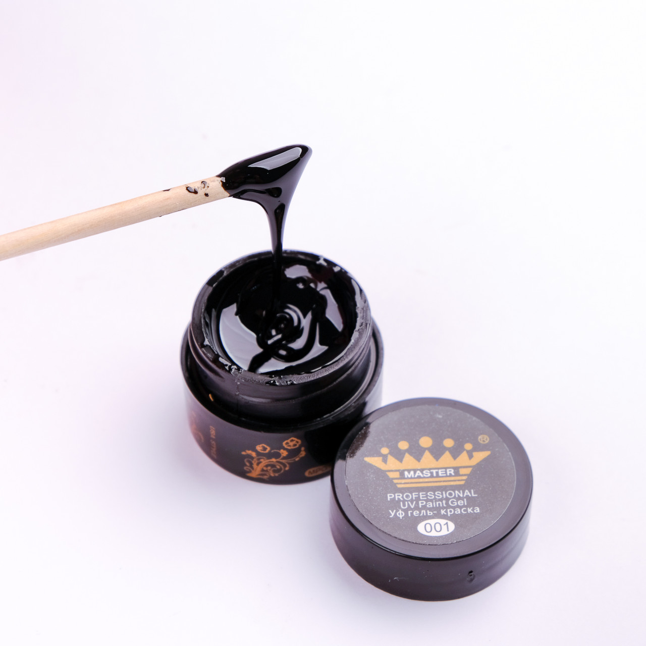 Гель краска Master Professional 5 ml №01(черный)