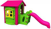Большой игровой домик с горкой Play House, фото 1