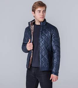 Ajento | Куртка экокожа весенне-осенняя 11543 темно-синий