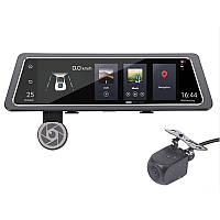 """➤Зеркало видеорегистратор 10"""" Lesko Car D10 1+16GB Sim карта камера заднего вида Android 5.1 ADAS 4G GPS/A-GPS"""