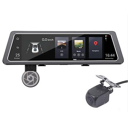 """➤Зеркало видеорегистратор 10"""" Lesko Car D10 1+16GB Sim карта камера заднего вида Android 5.1 ADAS 4G GPS/A-GPS, фото 2"""