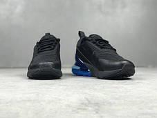 Мужские кроссовки Nike Air Max 270 Black Blue топ реплика , фото 2