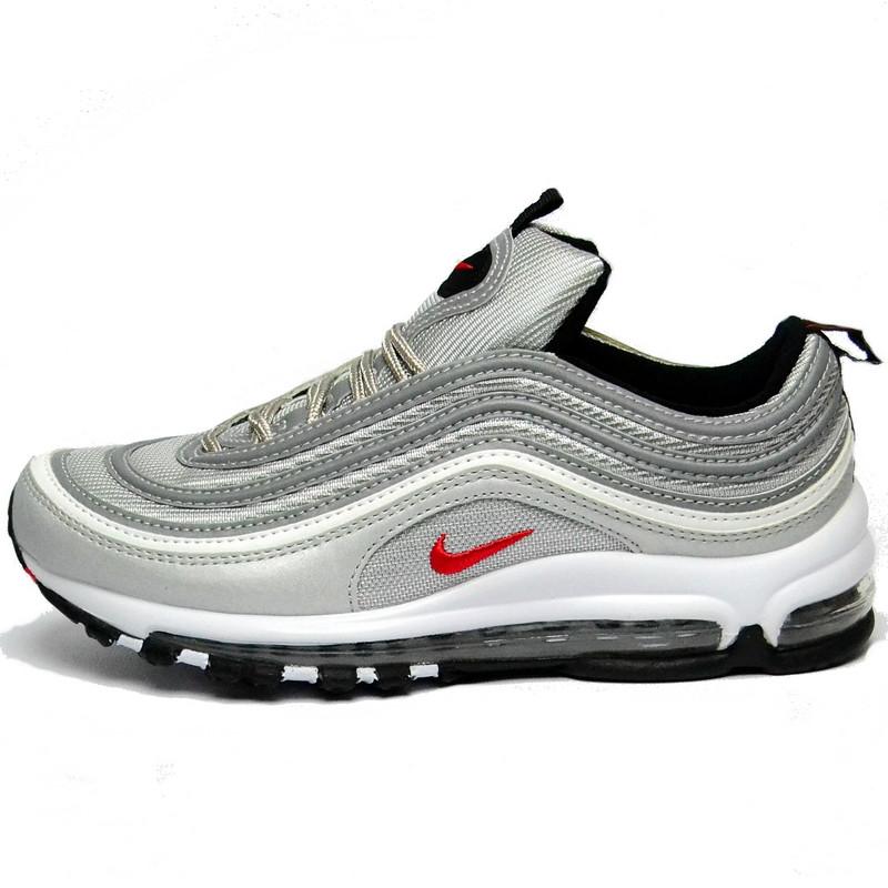 Кроссовки Nike Air Max 97 Bullet мужские \ женские (серые) Top replic